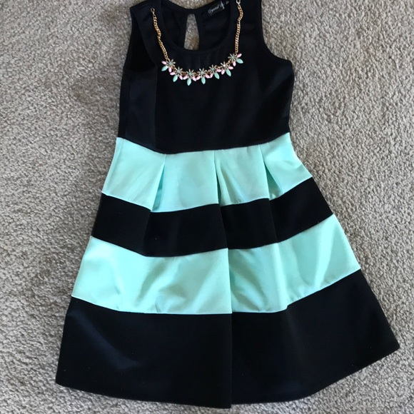 Crystal Doll Other - Shirks black and mint dress